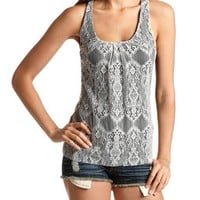 Lace Front Bow Back Tank: Charlotte Russe