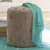 Velvet Tufted Stool