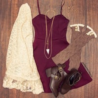 Alina Dress - Burgundy