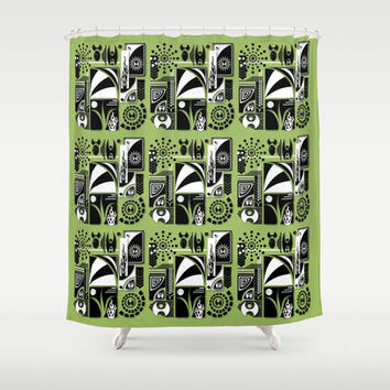 Green delight Shower Curtain by Robleedesigns