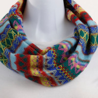 Trendy Infinity Scarf - Multicolored Sweater Knit - Super Soft