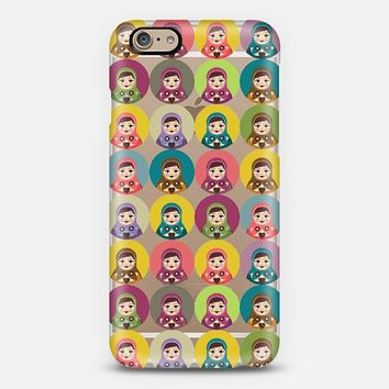 Matryoshka Candy Polka Transparent iPhone 6 case by Sharon Turner | Casetify