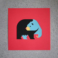 AWH Gift Shop  Black Bear Screen Print