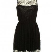 LOVE Black V Back Lace Dress - Love