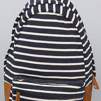 The Striped Backpack in Navy