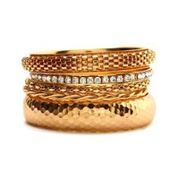Hammered Mesh Bangle Set: Charlotte Russe