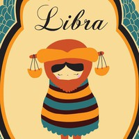 "LIBRA Zodiac Astrological Sign 8x10 Indie Constellation Art Print / Poster ""Libra"" Birthday Gift of Modern Artwork"