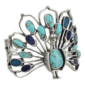 Lucky Brand Peacock Cuff Silver - Zappos.com Free Shipping BOTH Ways