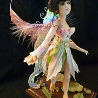 OOAK Pink Fairy, Art Doll