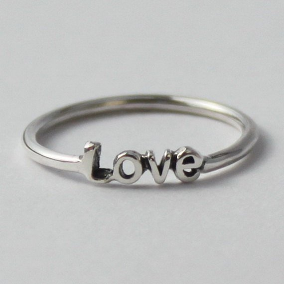 Love Ring - Sterling silver with poetic words