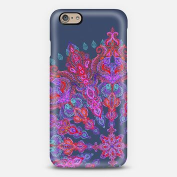 Soft Navy, Purple & Red Bohemian iPhone 6 case by Micklyn Le Feuvre | Casetify