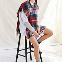RTH X Urban Renewal Recycled Plaid Blanket Poncho - Urban Outfitters