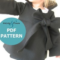 Chic Cocktail Swing Coat pattern and tutorial by heidiandfinn