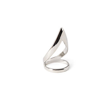 FOREVER 21 Cutout Cocktail Ring Silver