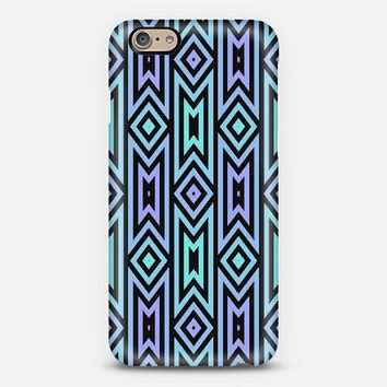 Aqua/Lilac Aztec Pattern iPhone 6 case by Lyle Hatch | Casetify
