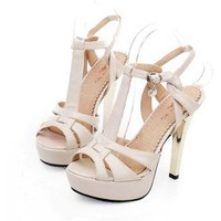 Leatherette Upper Stiletto Heel Sandals With Buckle Wedding/ Party Shoes(0987-GUIXZ D1) More Colors Available - US&amp;#36; 49.99