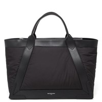 BALENCIAGA | Nylon and Leather Cabas Tote | Browns fashion & designer clothes & clothing