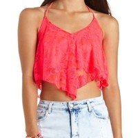 Swing Lace Halter Crop Top by Charlotte Russe