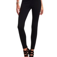 Stretchy High-Waisted Skinny Pants by Charlotte Russe - Black