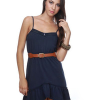 Family Reunion Navy Blue Dress