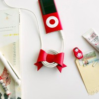 Rainbow Ribbon Earphone Winder
