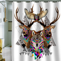 DENY Designs Home Accessories | Kris Tate Forest Friends Shower Curtain