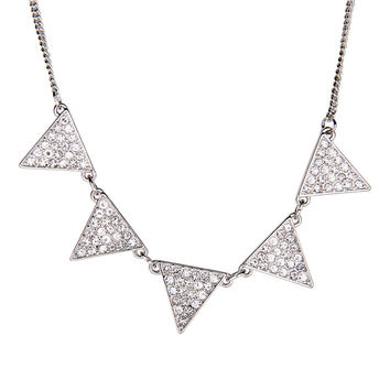 Aeropostale Triangle Short-Strand Necklace - Silver, One
