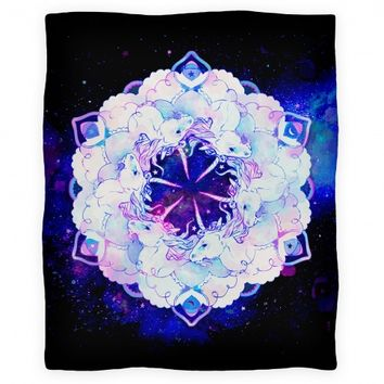 Unicorn Space Ring Blanket