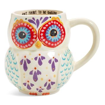 Natural Life 'Don't Forget to Be Awesome' 16oz. Owl Mug | Nordstrom