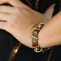 Counting The Stars Bracelet: Brown/Gold - One