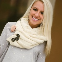 Neck Warmer Infinity Scarf (Ivory) - Piace Boutique