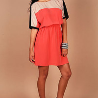 Ginger Block Dress - Trendy Dresses at Pinkice.com