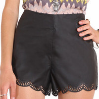 Edge of Desire Faux Leather Shorts in Black by Ark  Co. - $45.00 : ThreadSence.com, Your Spot For Indie Clothing  Indie Urban Culture