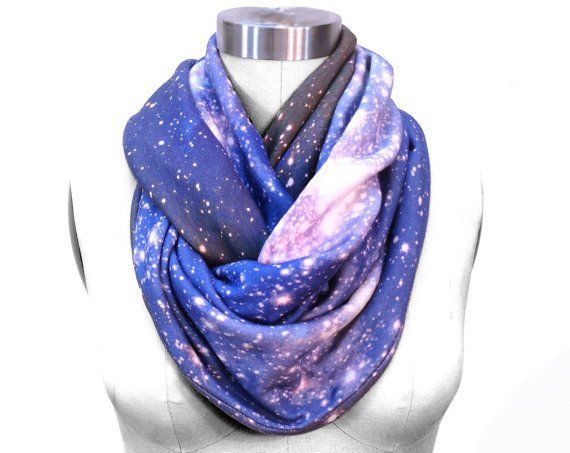 SAMPLE SALE. Galaxy Circle Scarf Magellanic Cloud Nebula. Space