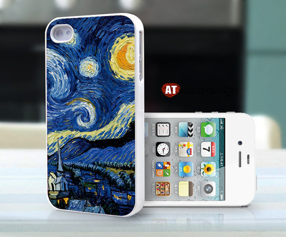 iphone 4 case iphone 4s case iphone 4 cover moon paint Colours  printing