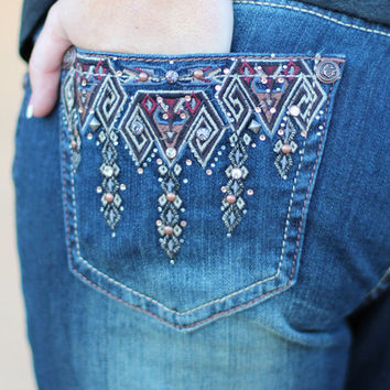 Tribal Cry Bootcut Jeans {Grace in LA - Easy Fit}