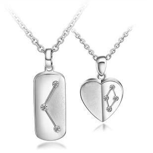 Gullei Trustmart : Cool Stars sterling silver similar heart couple necklaces [GTMCN007] - $79.00-Couple Gifts, Cool USB Drives, Stylish iPad/iPod/iPhone Cases &amp; Home Decor Ideas