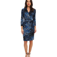 Adrianna Papell Concorde Print Faux Wrap Dress