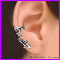 Vestal silver ear cuff earring jewelry - Ancient Roman style Right earcuff for men and women 072012