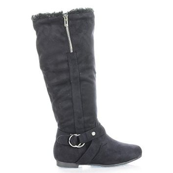 Starcy34 Mid Calf Faux Fur Lined Winter Boots