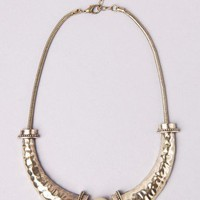 Tribal Metal Gold Water Necklace