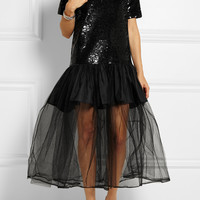 Ashish - Embellished sequined cotton and tulle gown