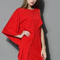 Beauty Flows Sleeveless Red Dress Red