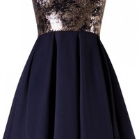 Navy Sequin Dress