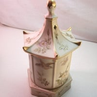 Unique Porcelain Music Box/ Trinket Box