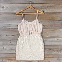 Midnight Lace Dress in Sand