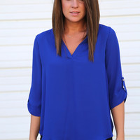 Easy Does It Tunic {Royal}