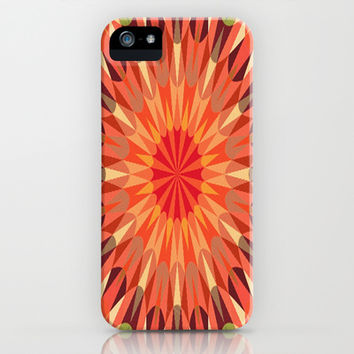 Earthy Peach Retro Geometry #2 iPhone & iPod Case by 2sweet4words Designs