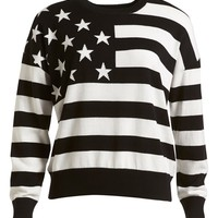 :CHOCOOLATE US Flag Knit Sweater (Women) | Nordstrom