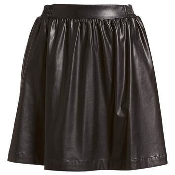 izzue Pleated Faux Leather Skirt (Women)   Nordstrom